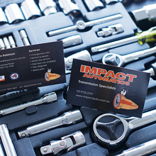 Impact Automatics - business cards