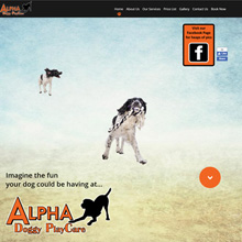 Alpha Doggy PlayCare - parallax scrolling